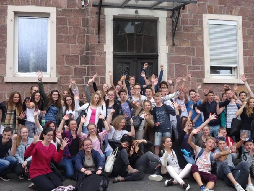 Les élèves Vernonnais lors du voyage à Bad Kissingen en 2015