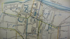 Ancien plan de la ville de Vernon