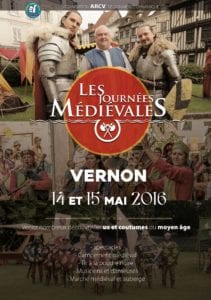 affiche fête médiévale vernon