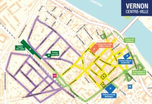 Carte du stationnement à Vernon
