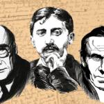 Portraits de André Gide, Marcel Proust et Gérard de Nerval