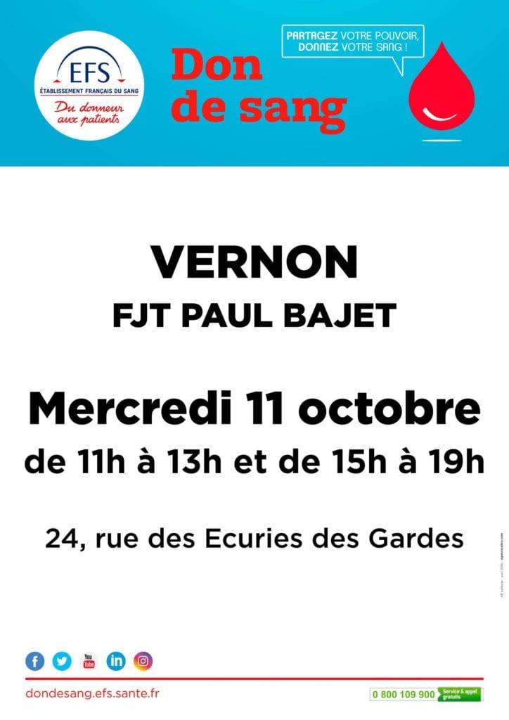 Affiche Don de sang du 11 octobre