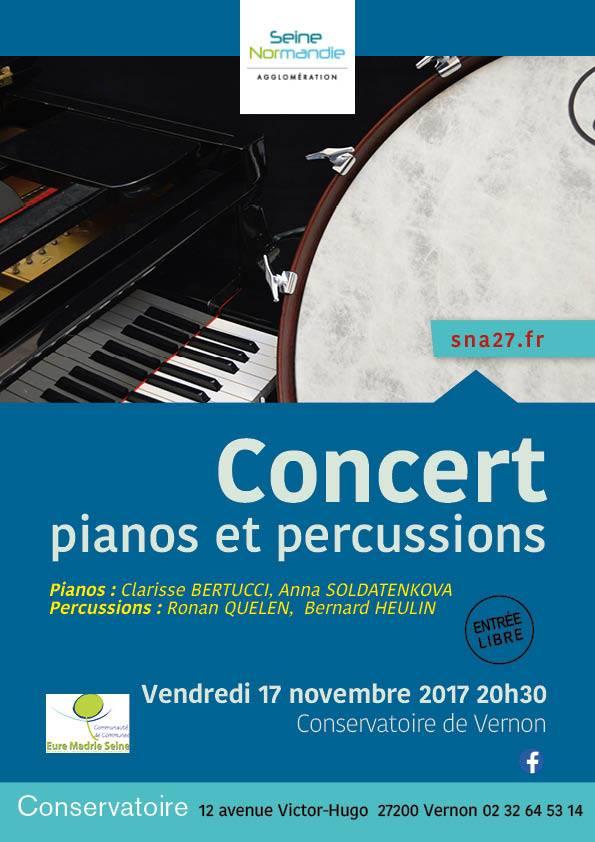 Affiche concert percussions et piano