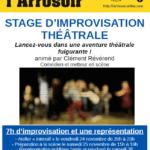 Affiche stage théâtre