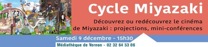 Cycle Miyazaki à la médiathèque de Vernon