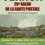 affiche salon carte postale