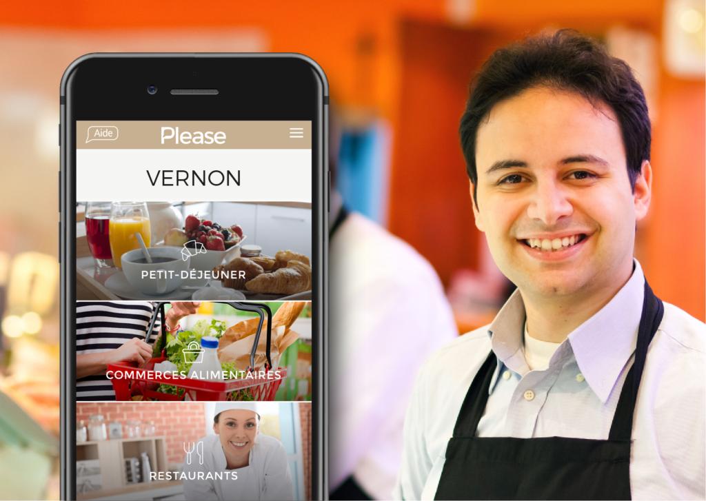Application mobile Please Vernon