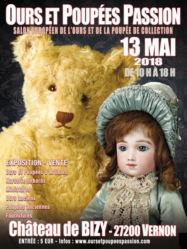 affiche exposition ours et poupée de collection