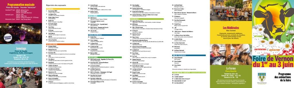 Programme Foire de Vernon 2018
