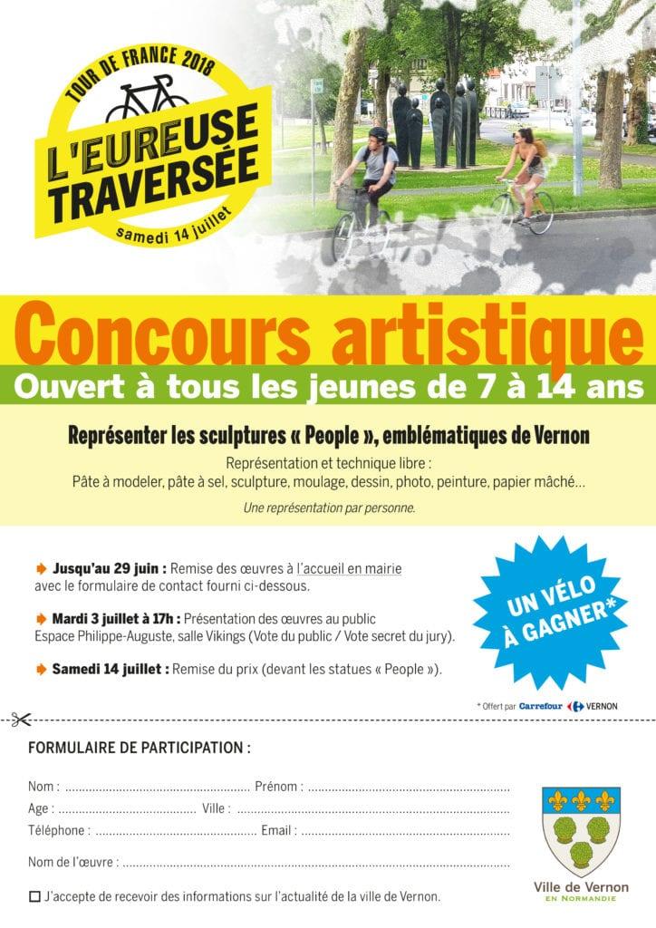 Concours Artistique Tour de France à Vernon Olivier Gerval