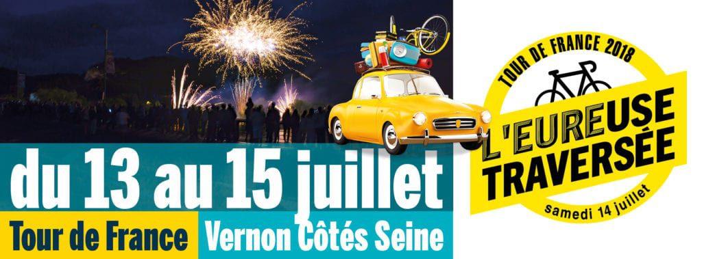 Vernon Côtés Seine et le Tour de France à Vernon juillet 2018
