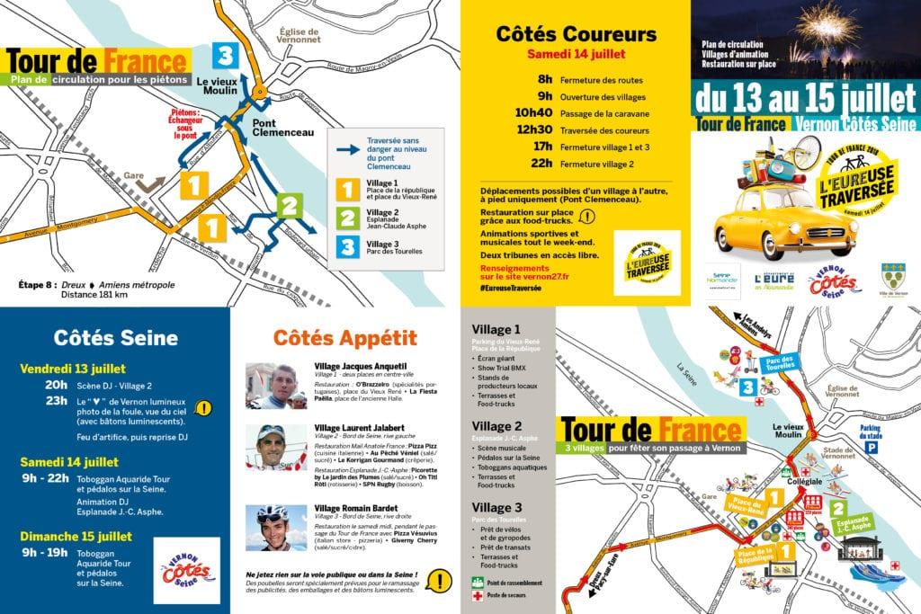 Plan de circulation Tour de France 2018