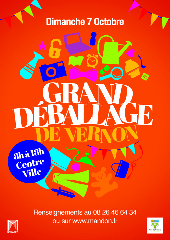 affiche vernon Grand Déballage 18