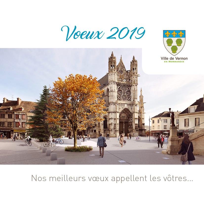 Invitation cérémonie des voeux Vernon 2019