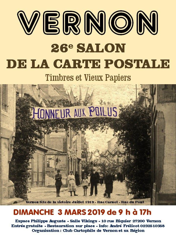 affiche salon carte postale