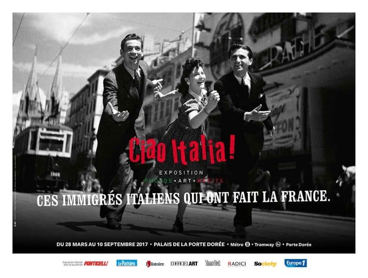Affiche exposition ciao italia