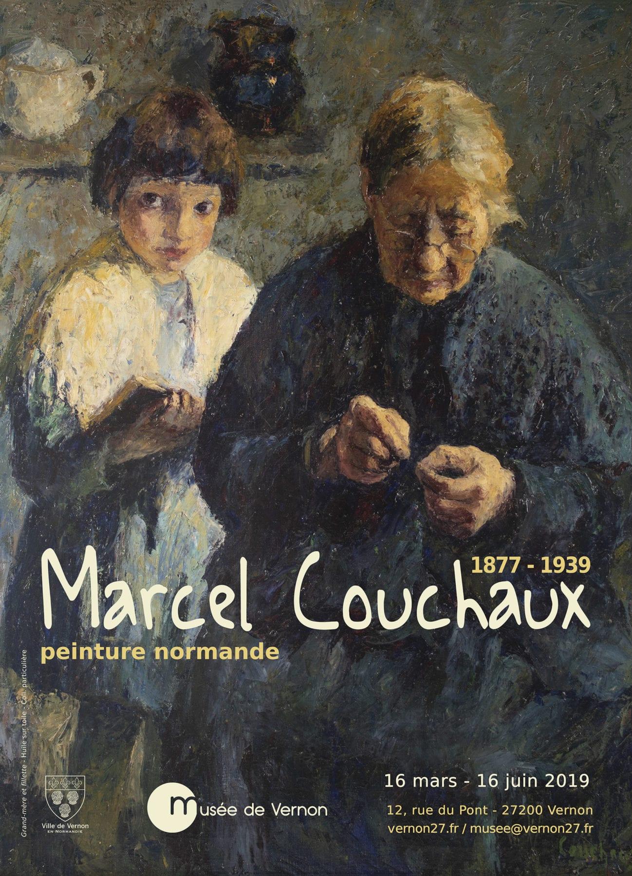 """Peintres Ecole De Rouen marcel couchaux, peinture normande"""" au musée de vernon"""