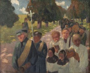 Marcel Couchaux (1877 – 1939) Procession Huile sur toile - Collection particulière Photo : Sylvain Bachelot