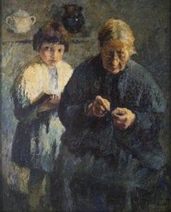 Marcel Couchaux (1877 – 1939) Grand-Mère et fillette Huile sur toile - Collection particulière Photo : Sylvain Bachelot