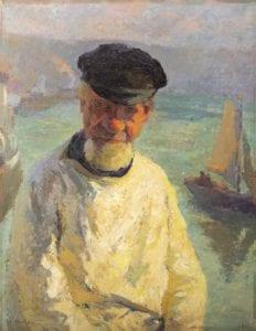 Marcel Couchaux (1877 – 1939) Portrait de marin Huile sur toile - Collection particulière Photo : Sylvain Bachelot