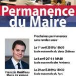 permanences de François Ouzilleau Maire de Vernon