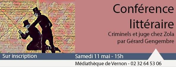 conférence littéraire médiathèque vernon