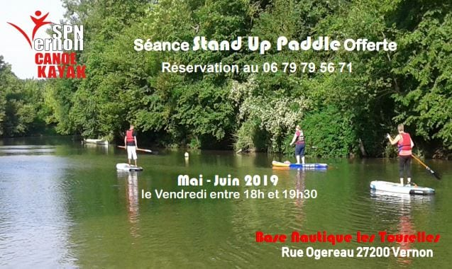 séance stand up paddle offerte