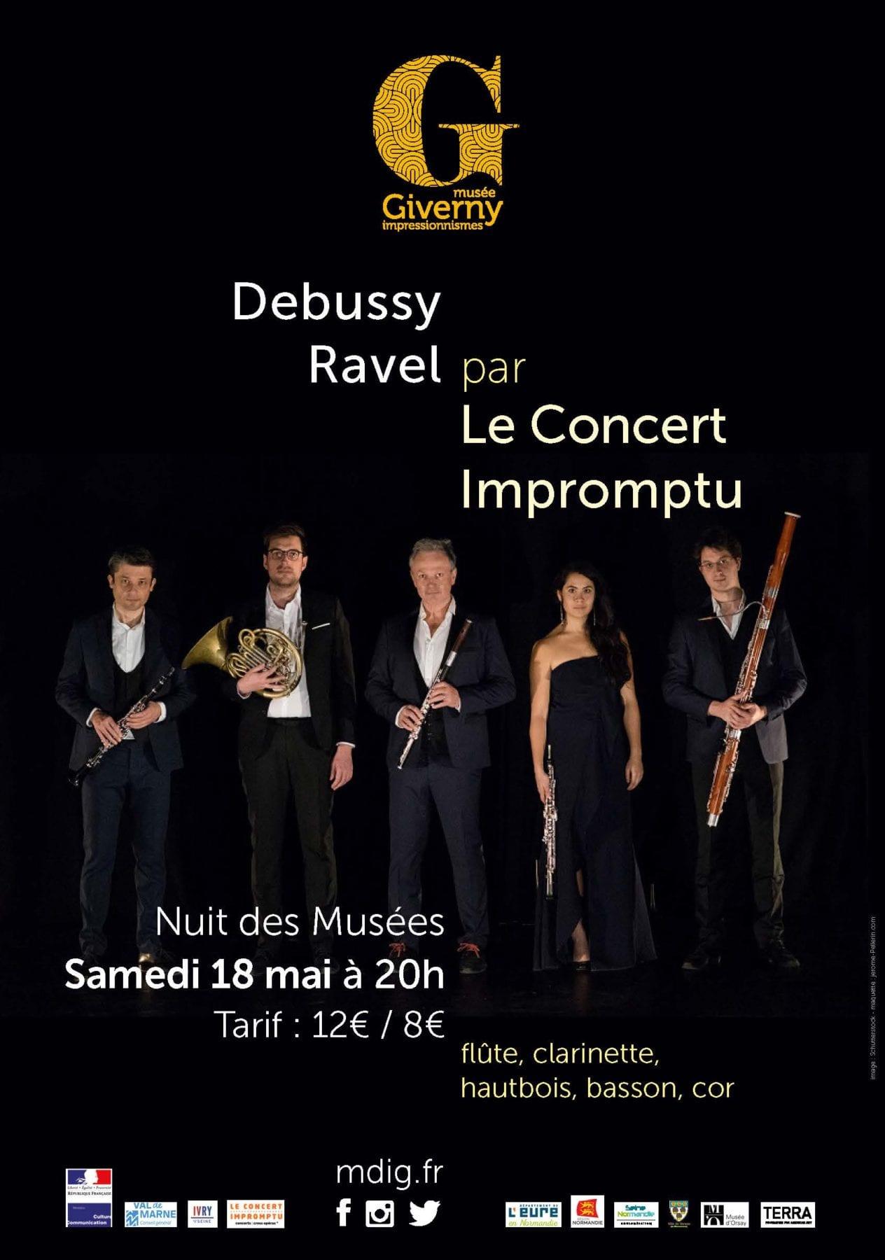 affiche nuit au musée giverny concert