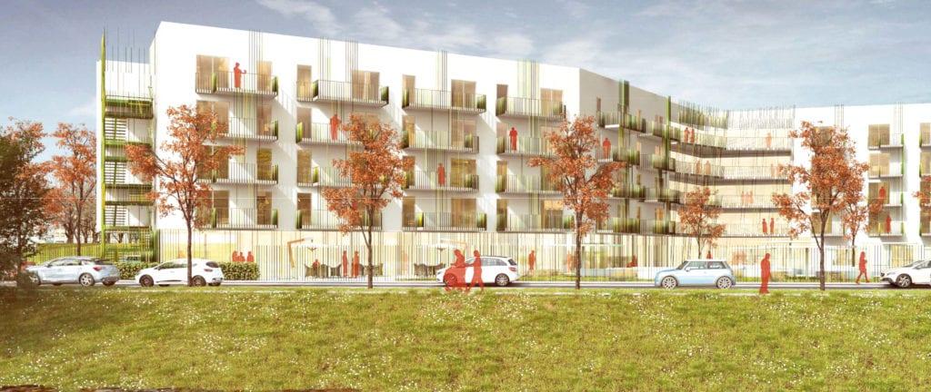 résidence de 110 logements en location pour les séniors avec de nombreux services accessibles 24h/24.