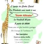 Soirée africaine du 28 juin centre social pénitents vernon