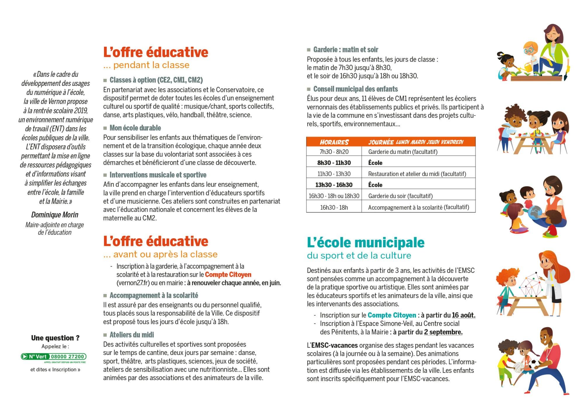 offre éducative municipale enfant vernon 2019 2020