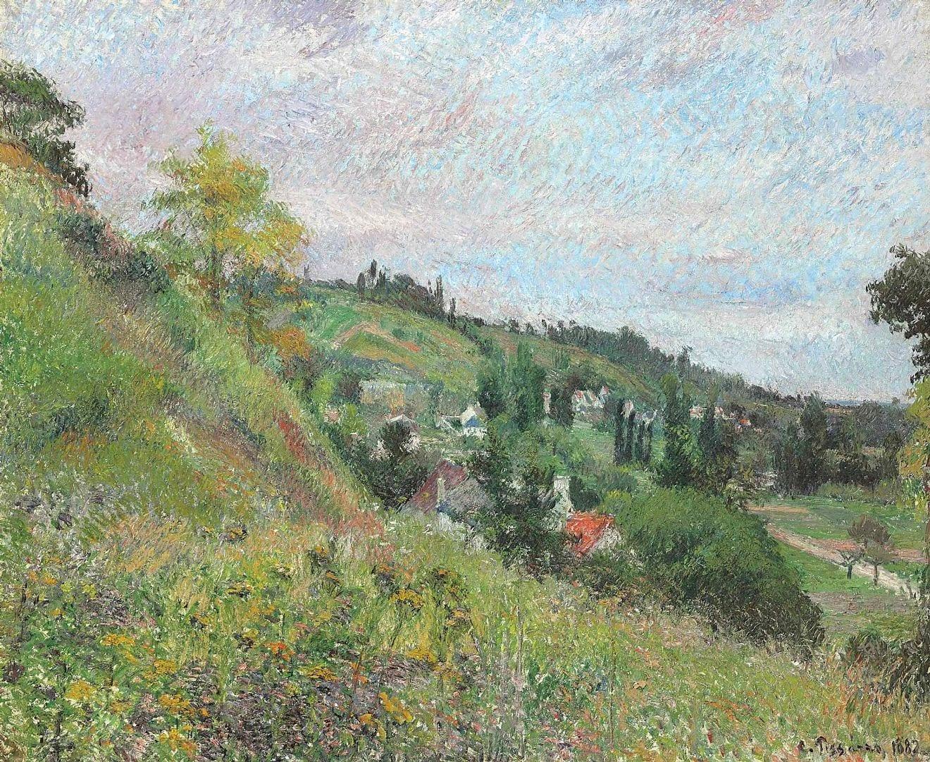 Les Coteaux de chou, Pontoise, de Camille Pissaro.