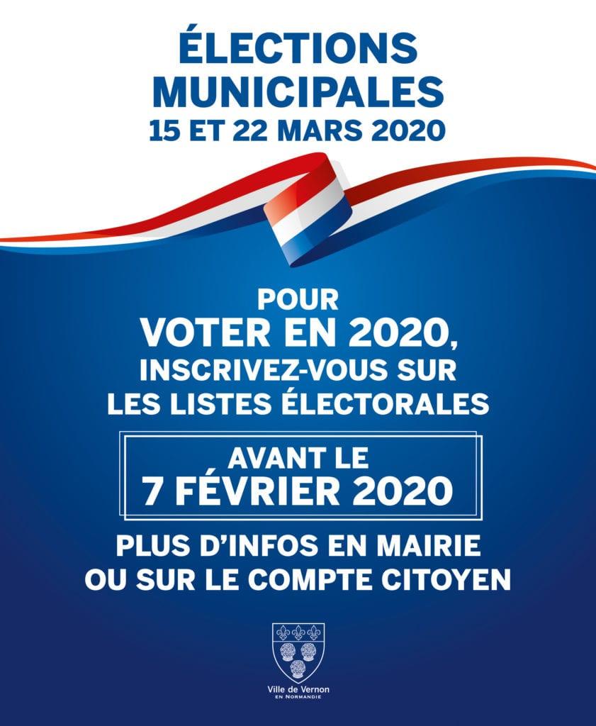 INSCRIPTIONS listes électorales Vernon
