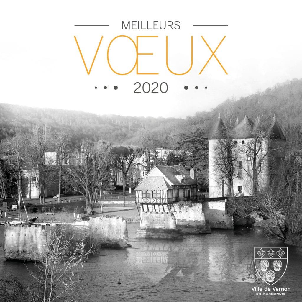 carte de voeux vernon 2020 vieux moulin seine