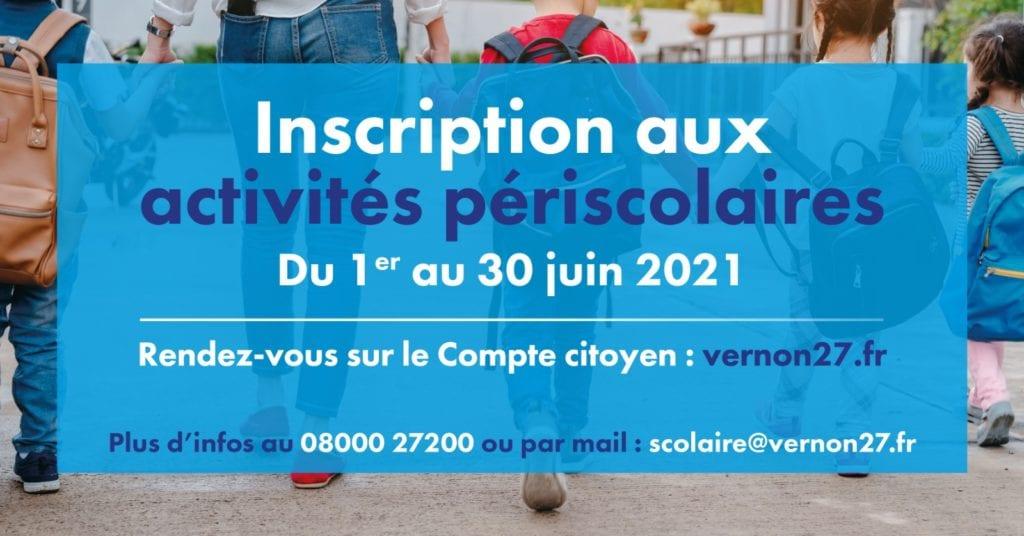 inscription périscolaire 2021 2022